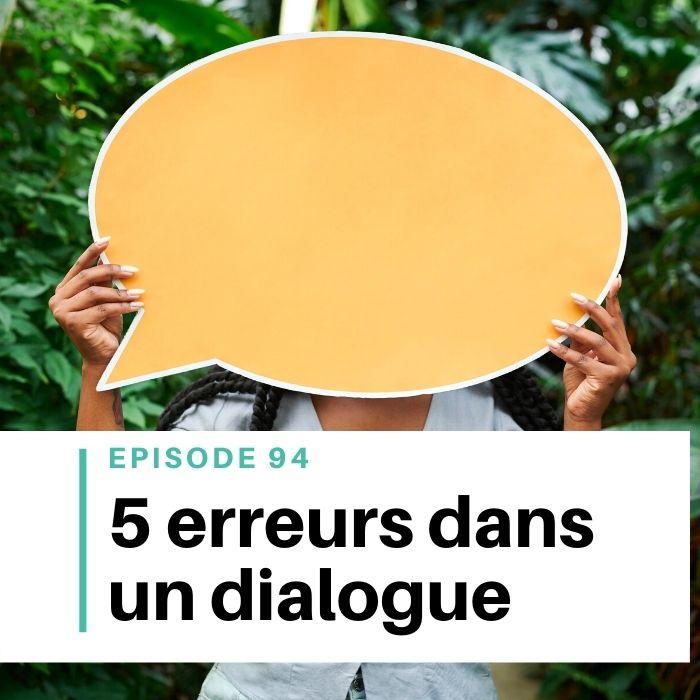 5 erreurs dans les dialogues